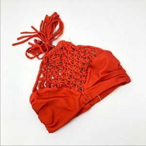 NEW Mikoh Waimea Crochet High Neck Bikini Top S